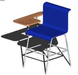 imagen Silla escolar 3d, en Butacas - Muebles equipamiento