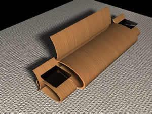 imagen Silla para 2 personas con mesas auxiliares, en Cibercafés locutorios y telefónicas - Muebles equipamiento