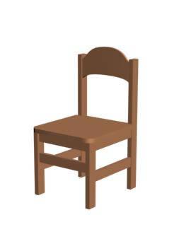 Silla parvulo 3d madera en sillas 3d muebles for Sillas para 3d max
