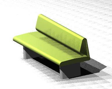 imagen Sillon 3d, en Equipamiento de parques paseos y plazas - Equipamiento urbano