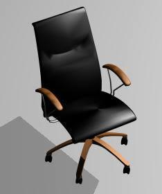 Sill N De Oficina 3d En Sillas 3d Muebles Equipamiento