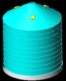 imagen Silo 3d, en Silos y depósitos de granos - Granjas e inst. agropecuarias