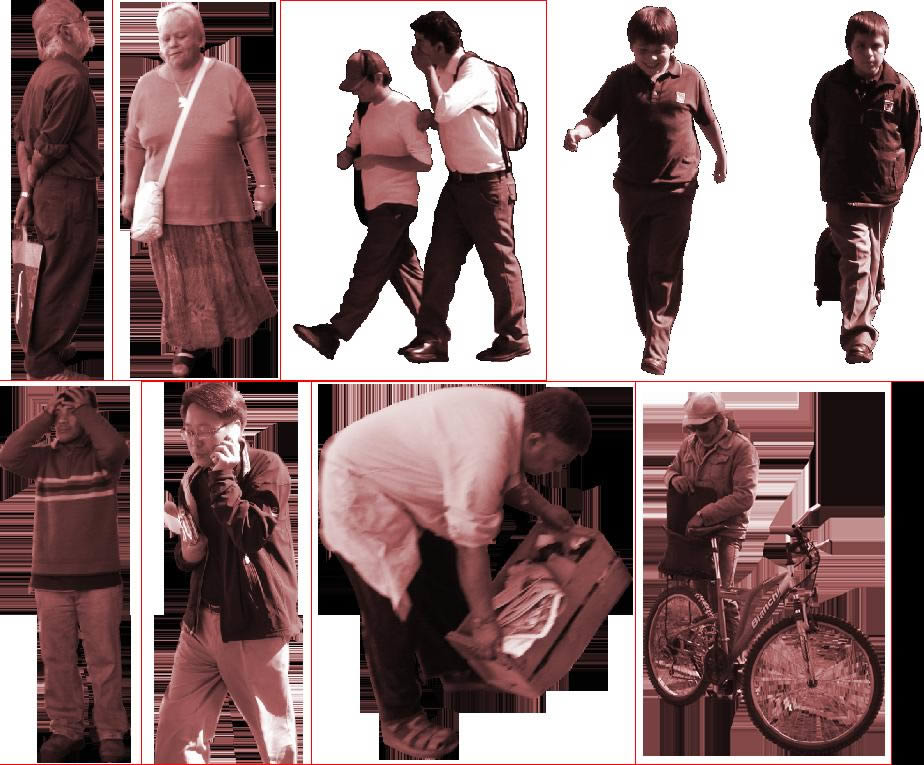 imagen Siluetas en formato png, en Fotografías para renders - Personas