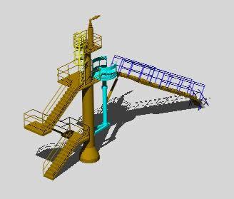 imagen Sistema contra incendio para barcos 3d, en Instalaciones contra incendios - Instalaciones
