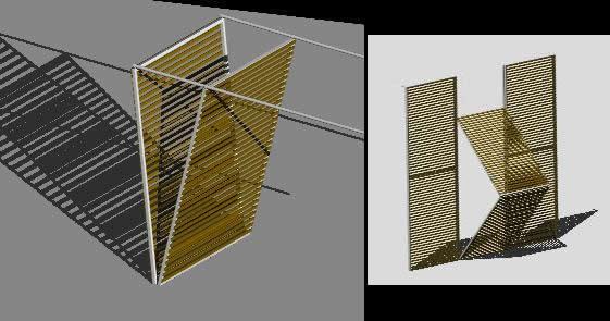 imagen Sistema persianas plegables 3d, en Ventanas 3d - Aberturas