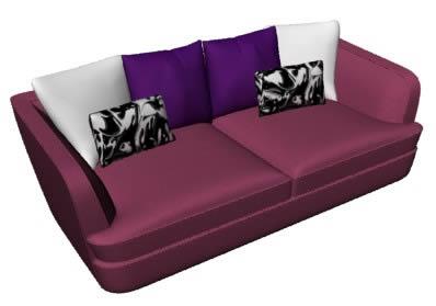 imagen Sofa 2 plazas 3d, en Sillones 3d - Muebles equipamiento