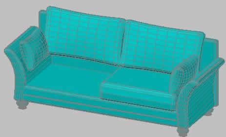 imagen Sofa 3d, en Salas de estar y tv - Muebles equipamiento