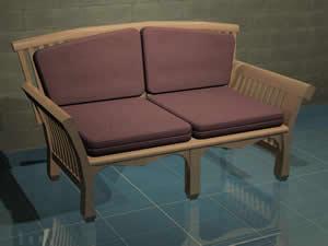 imagen Sofa de dos plazas 3d, en Salas de estar y tv - Muebles equipamiento