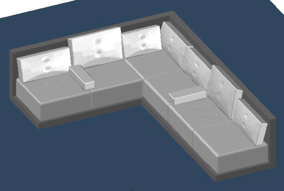 Planos de sofa esquinero 3d en sillones 3d muebles for Planos de sillones