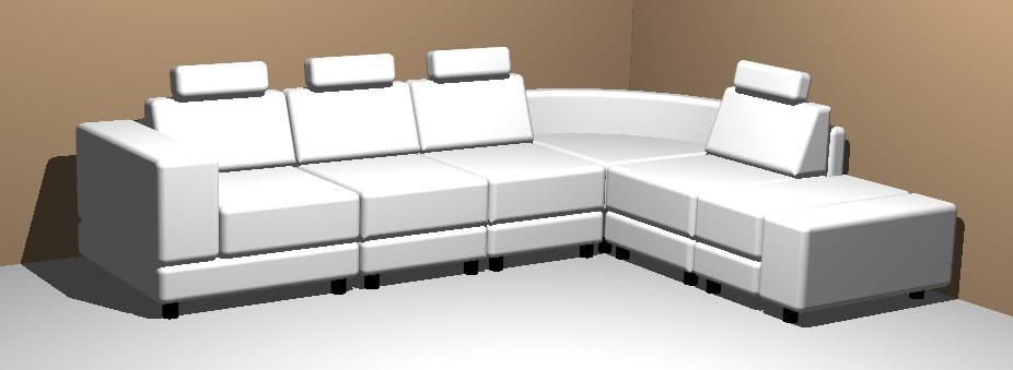 Sillones 3d archives p gina 12 de 21 planos de casas for Sofa piel esquinero