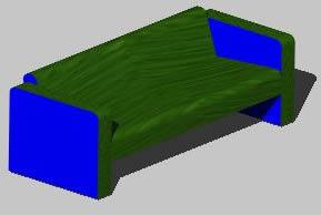 imagen Sofá tres cuerpos 3d, en Salas de estar y tv - Muebles equipamiento