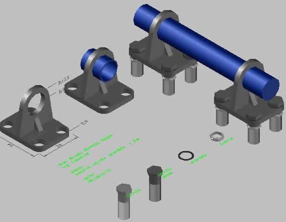 imagen Soporte, en Válvulas tubos y piezas - Máquinas instalaciones