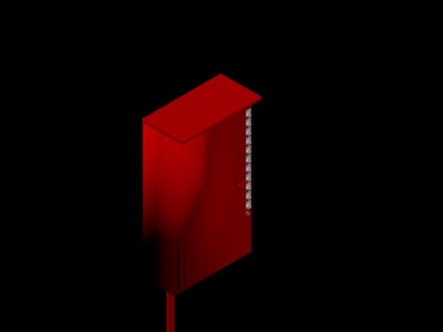 imagen Tablero electrico bomba principal 3d., en Instalaciones contra incendios - Instalaciones
