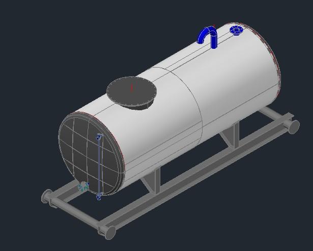 imagen Tanque 500gls 3d, en Tanques - Máquinas instalaciones