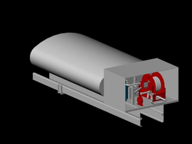 imagen Tanque cisterna combustible 3d, en Industria petrolera - Máquinas instalaciones