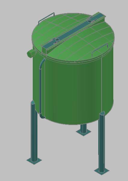 imagen Tanque de reproceso 3d, en Tanques - Máquinas instalaciones