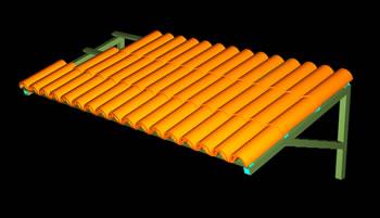 imagen Techumbre 3d con teja curva y mensulas de madera, en Cubiertas - estructuras - Detalles constructivos