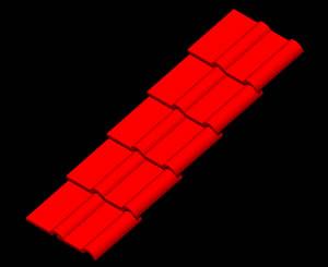 imagen Teja 3d, en Cubiertas - estructuras - Detalles constructivos