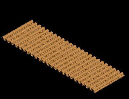 imagen Teja en 3d, en Cubiertas - estructuras - Detalles constructivos