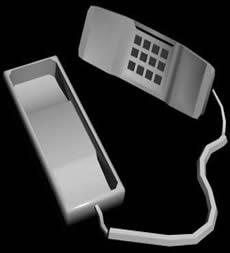 imagen Teléfono 3d, en Cibercafés locutorios y telefónicas - Muebles equipamiento