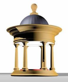 imagen Templete romano 3d, en Edificios varios - Historia