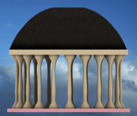 imagen Templo griego 3d, en Iglesias y templos - Historia