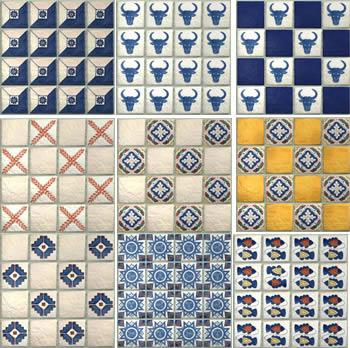 imagen Textura de pared de  aulejos, en Pisos cerámicos - Texturas