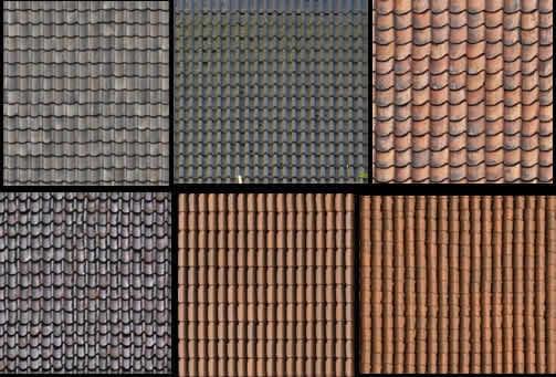 imagen Textura de tejas, en Tejados - Texturas