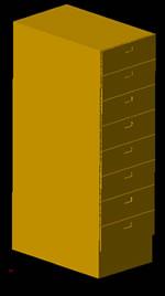 Planos de archivero en 3d en dwg autocad oficinas y for Muebles de oficina 3d autocad