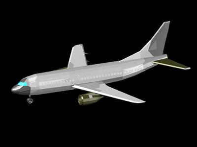 imagen Avión en DWG
