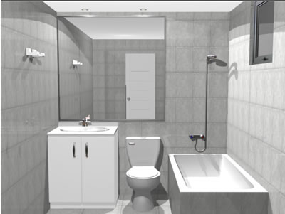 Planos de ba o 3d en max ba os muebles equipamiento en for Equipamiento banos