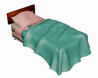 Planos de cama simple 3d en max dormitorios muebles for Cama 3d dibujo