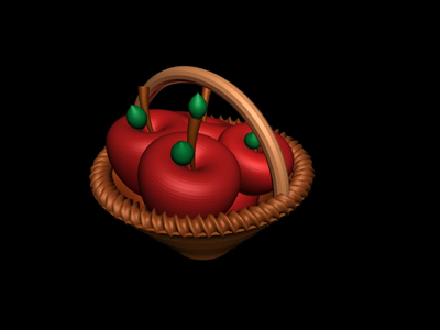 imagen Canasta con manzanas en MAX