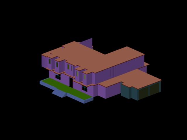Planos de casas planos de construccion for Habitacion 3d autocad