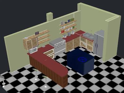 planos de cocina 3d en dwg autocad cocinas muebles
