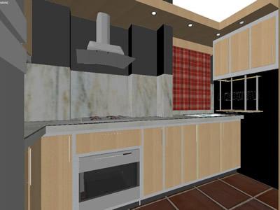 Planos de cocina 3d en dwg autocad cocinas muebles for Planos de cocinas 3d