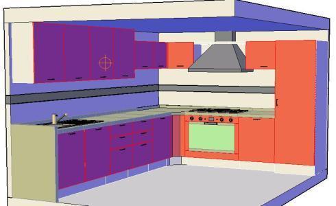 Planos de cocina 3d en dwg autocad cocinas sanitarios for Planos de cocinas 3d