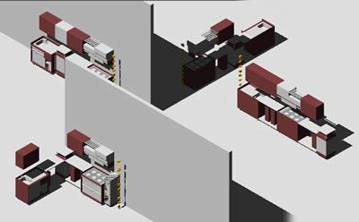 imagen Planos de Cocina integral - amoblamiento en DWG AUTOCAD, Cocinas - Muebles equipamiento