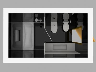 imagen Cuarto de baño 3d en DWG
