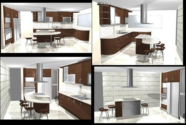 imagen Planos de Diseño de cocina en DWG AUTOCAD, Cocinas - Muebles equipamiento
