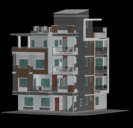 imagen Planos de Duplex vistas 3d en MAX , Vivienda multifamiliar - condominios - Proyectos