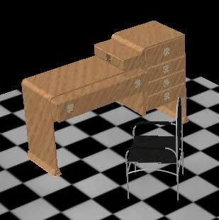 Planos de escritorio con silla 3d en dwg autocad for Muebles 3d autocad