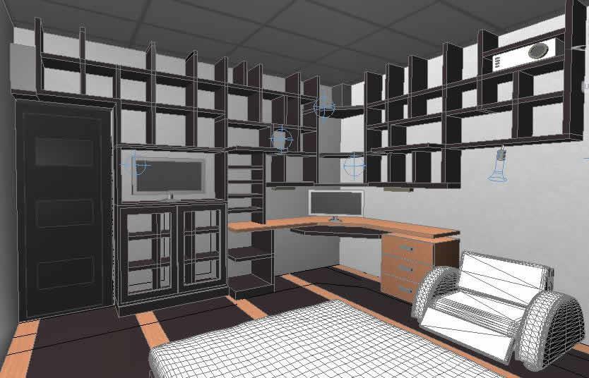 Planos de habitacion 3d en dwg autocad vivienda for Habitacion 3d autocad