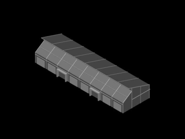 planos de invernaderos 3d centros de acopio en dwg