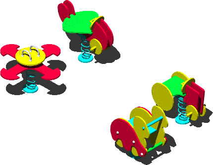 imagen Planos de Juegos 3d para niños en DXF , Juegos - Muebles equipamiento