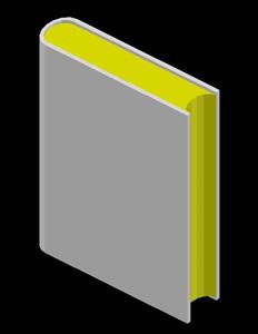 imagen Libro en 3d en DWG