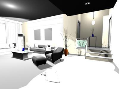 imagen Living room 3d max en DWG