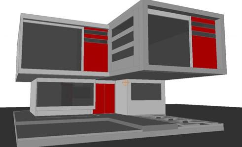 Planos de Mini loft 3d en DWG AUTOCAD, Vivienda unifamiliar 3d ...