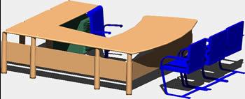 Planos de mobiliario para oficina en dwg autocad for Mobiliario oficina dwg