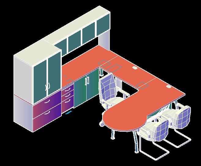 planos de modulo asistente direccion 3d en dwg autocad